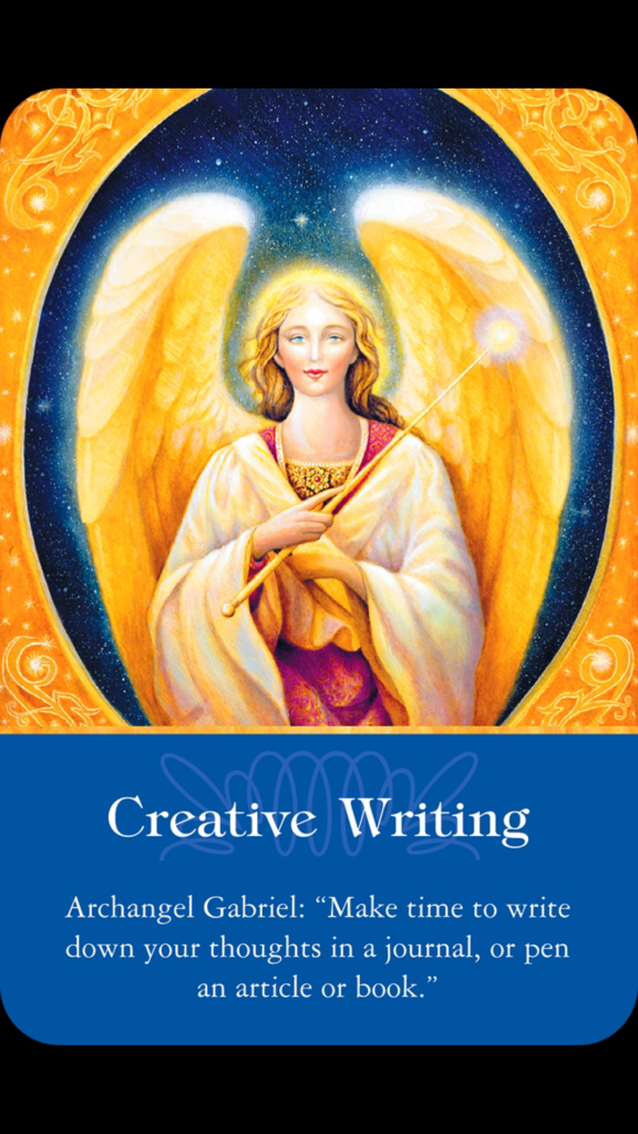Weekly Angel Card Reading For October 27 Through November: Weekly Angel Card- Creative Writing